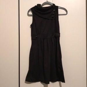 Monteau Black Retro Button Dress, Large NEW